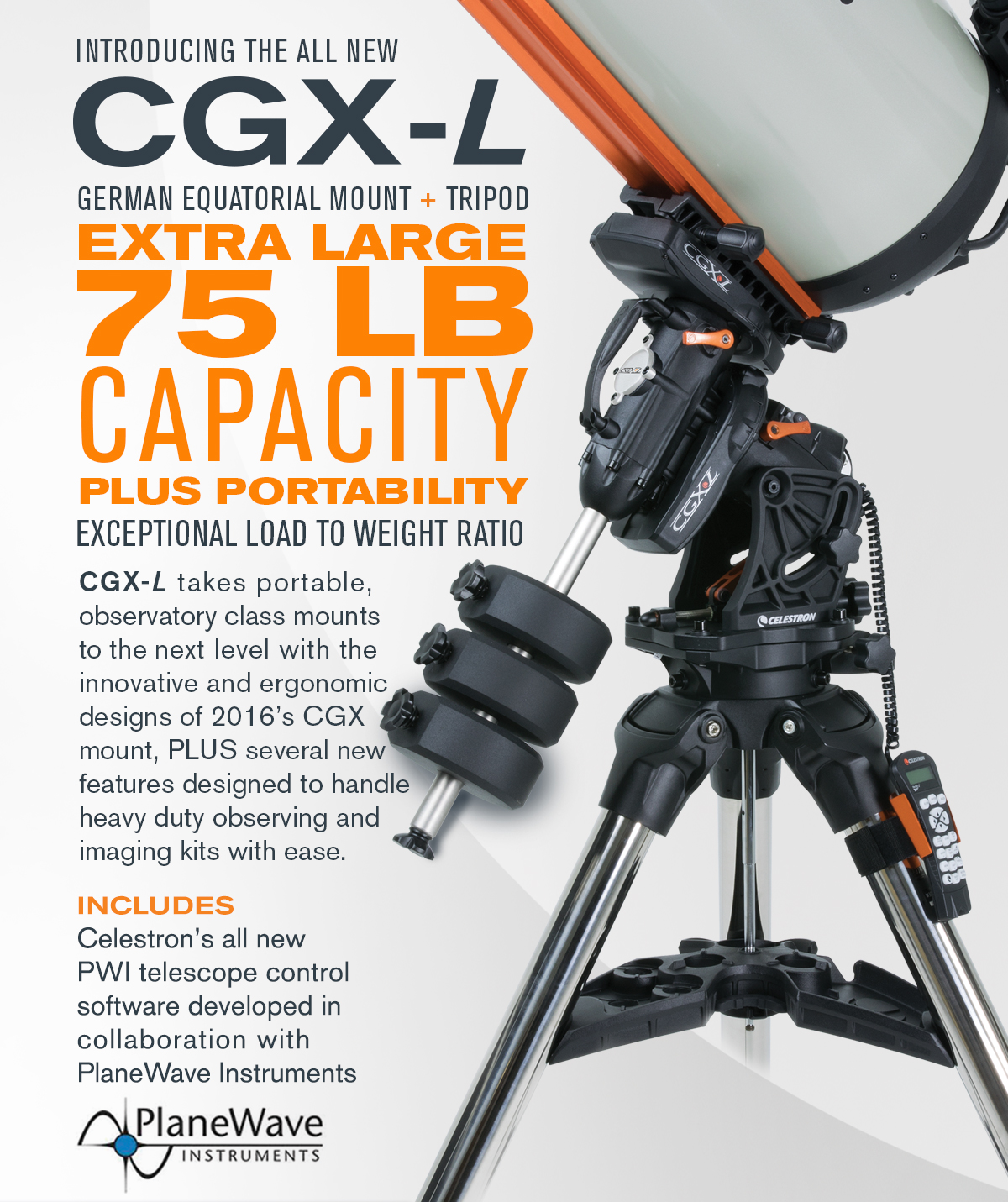 The Brand New Celestron CGX-L