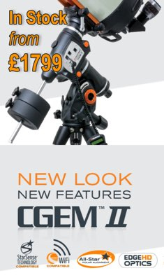 Buy the new Celestron CGEMII Mount Now from Tring Astronomy Centre