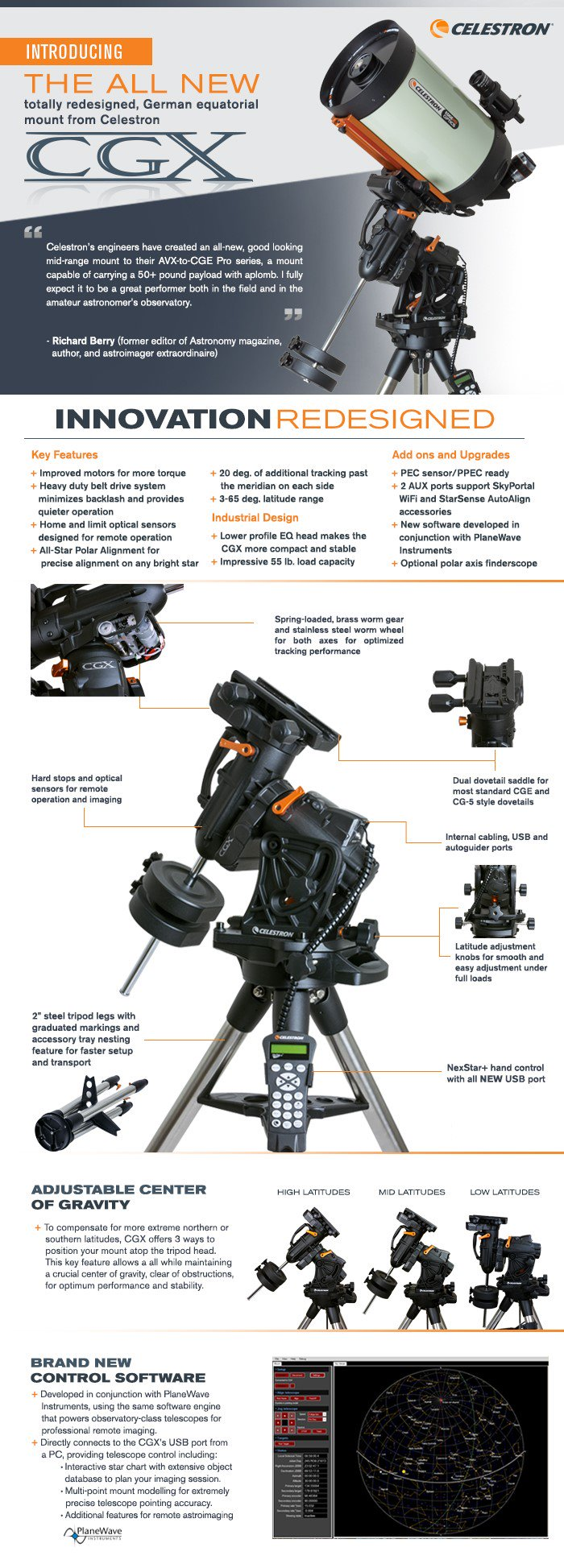The new Celestron CGX