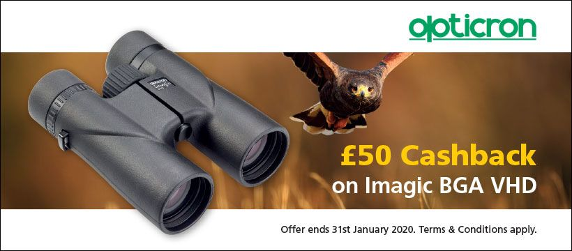 Special Offer £50 Cashback on Opticron Imagic VHD binoculars