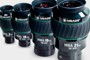 Meade Eyepieces in various sizes to suit all budgets with moon filters