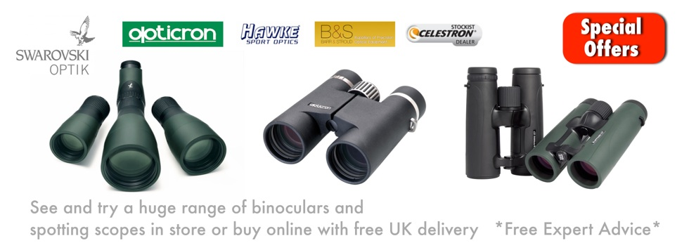 Spotting scopes and binoculars for birdwatching